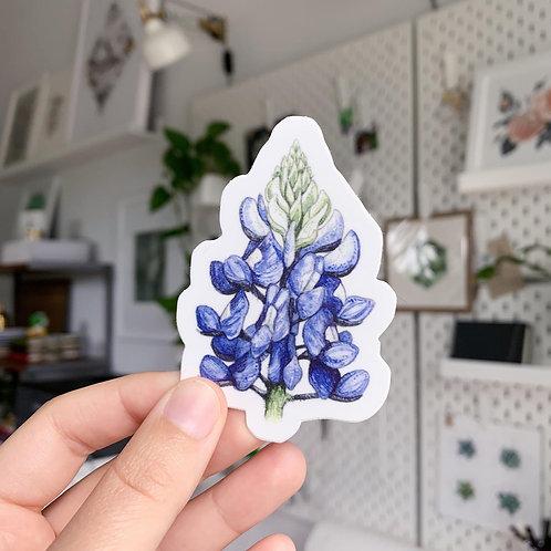 Chloe Jane Gray Bluebonnet Sticker