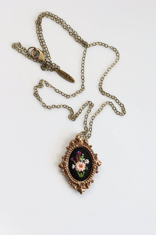 Poppy & Fern Dahlia necklace