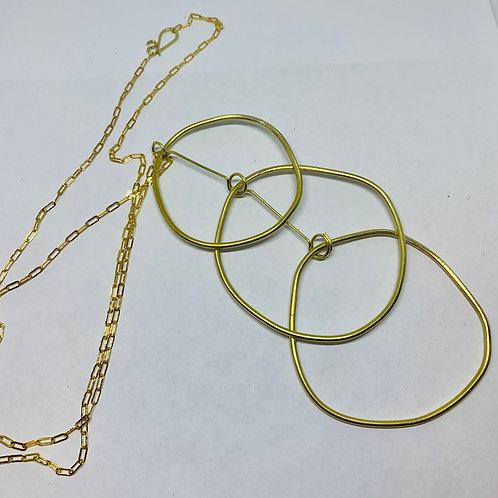 Studio Forged Art Deco Multi Drop Necklace
