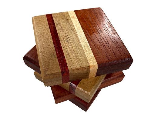 Knotty Woodworx Mixed Wood Coaster