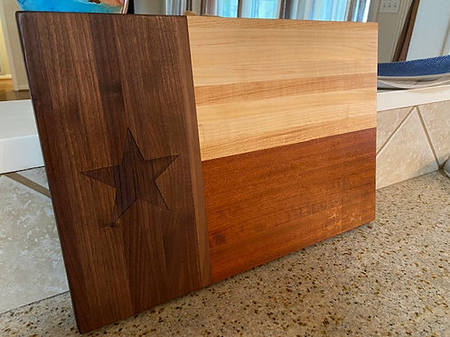 Knotty Woodworx Texas Flag Cutting Board