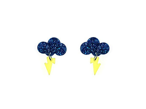 Vinca Baby Rain Cloud Earrings