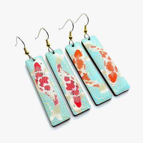 PrettyKiku Koi Pond Japanese Earrings