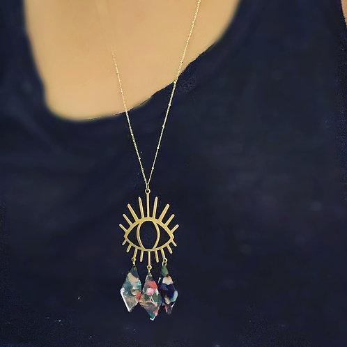 Stitch and Stone Brass & Acetate Flashy Lash Necklace