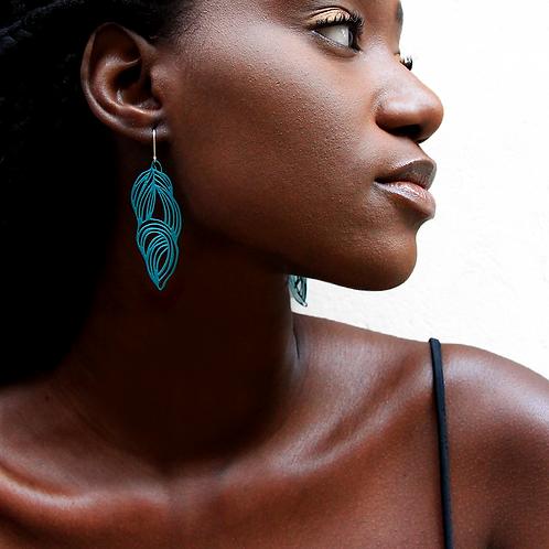 Pop-Out Jewelry Leaf Earrings