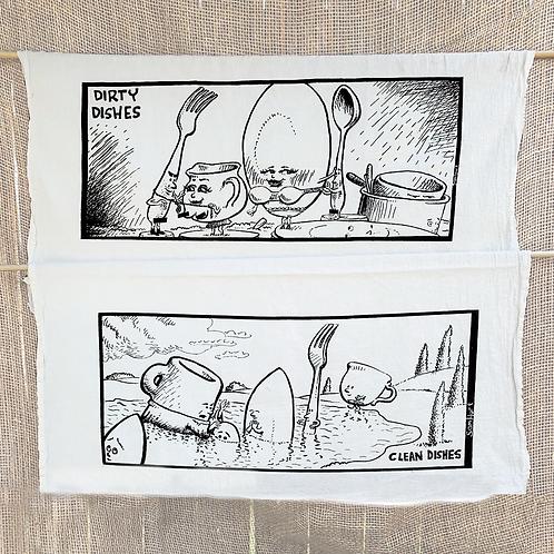 Sam Hurt Dirty/Clean Dishes Dish Towel