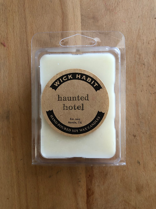 Wick Habit Soy Wax Melts, Austin gift, soy candle, haunted hotel