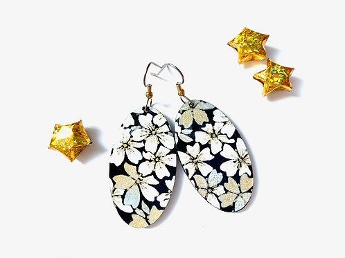 PrettyKiku Ume Japanese Paper Earrings