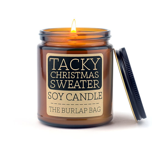 The Burlap Bag Glass Soy Candles