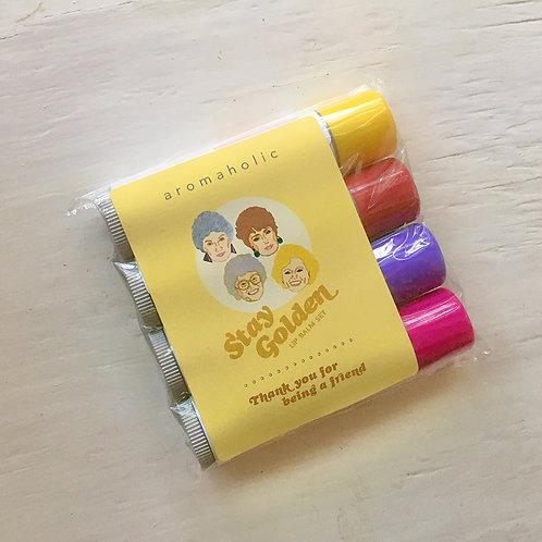 Aromaholic Golden Girls Lip Balm Set