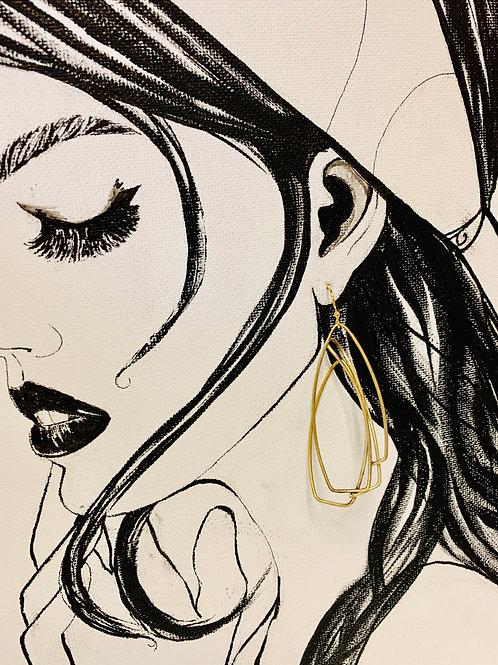 Studio Forged Art Deco Demi Earrings