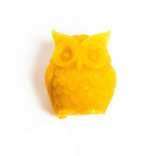 Two Hives Honey Owl Beeswax Candle
