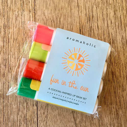 Aromaholic Fun in the Sun Lip Balm Set