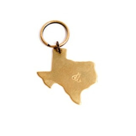 Two Hives Honey TX Bee Keychain
