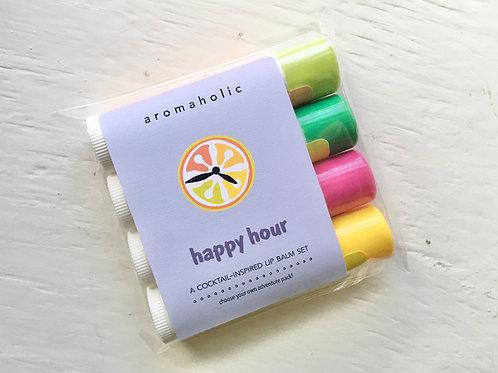 Aromaholic Happy Hour Lip Balm Set