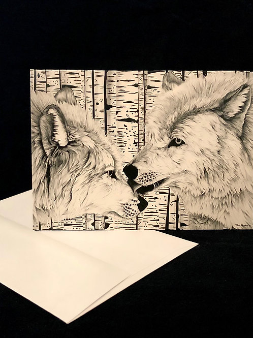 Flip Solomon Greeting Cards, The Wolves
