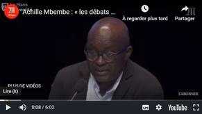 Achille Mbembe dénonce le « brutalisme » du libéralisme