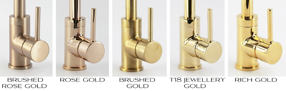 NEW to ZIGELL....  We are excited to showcase our new range of Gold Tap ware.  Including Industrial Brushed Gold to Rose Gold - come and visit our showroom and view our gorgeous selection of Gold Tap ware.