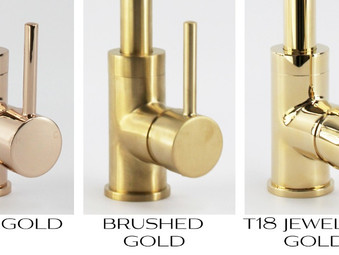 Gold Tapware is on trend...