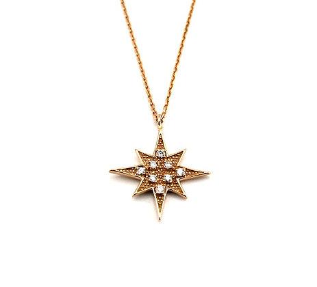 Marie Claire Rose Altın yıldız kolye