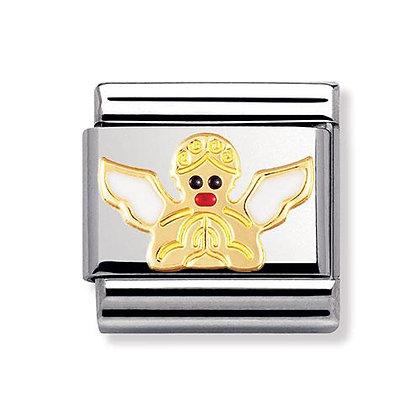 Nomination altın detaylı mineli charm