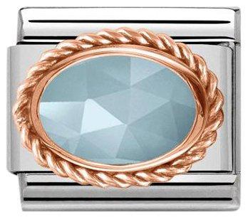 Nomination Rose Gold Naturel veya Zilkon taşlı charm