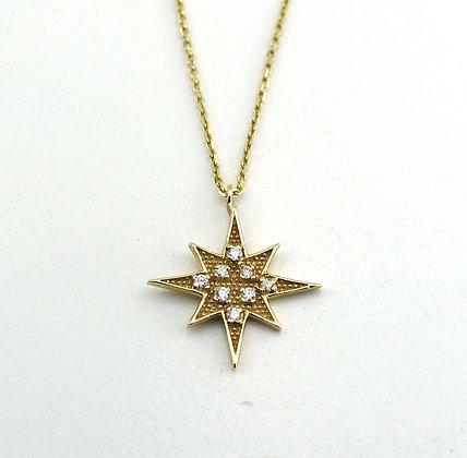 Marie Claire Altın yıldız kolye