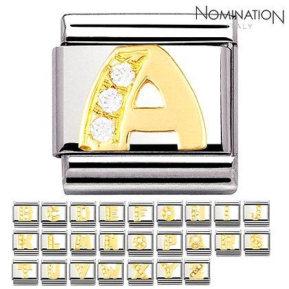 Altın ve Taşlı Harf Charmlar