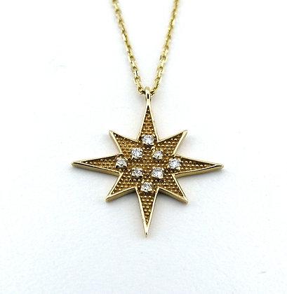 Marie Claire Büyük Kolye  yıldız kolye