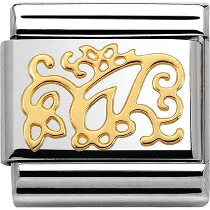 Nomination altın detaylı  charm