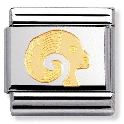 Nomination 18 ayar altın detaylı charm