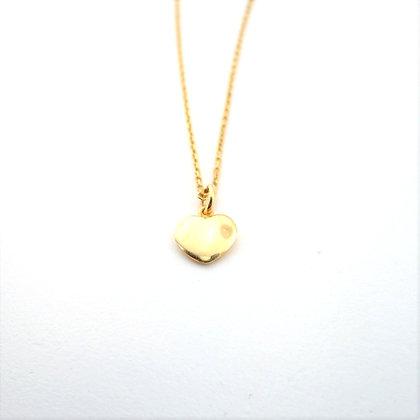 Marie Claire Sarı Altın Kalp Kolye
