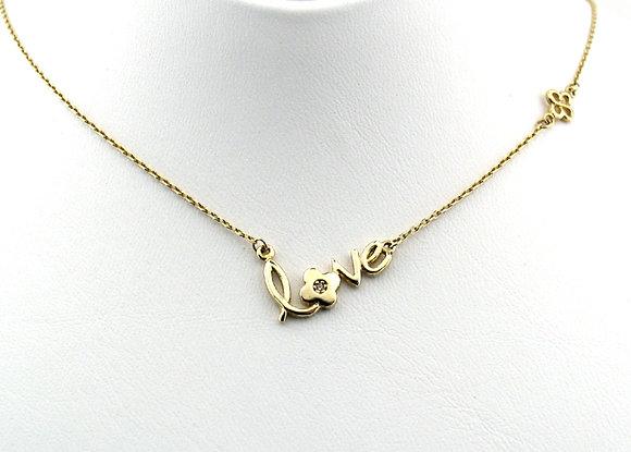 Marie Claire Altın LOVE kolye