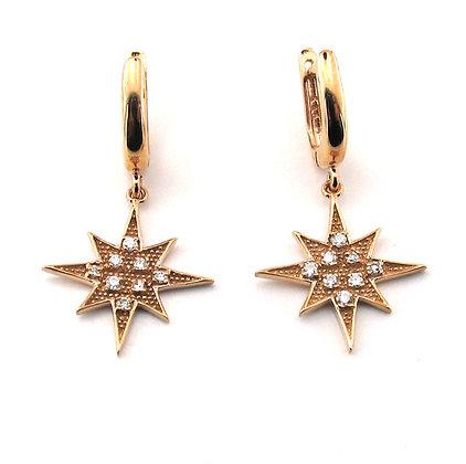 Marie Claire yıldız küpe
