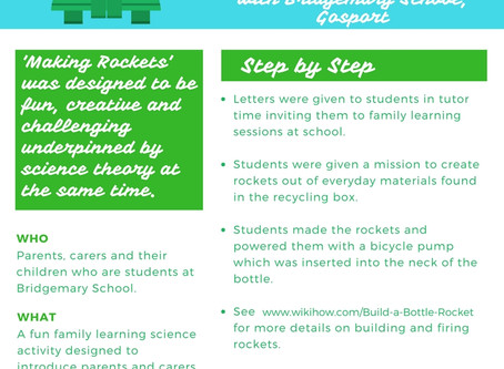 Making Rockets with Bridgemary School