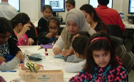 Families can make, paint and decorate in Redbridge's Family Learning Festival