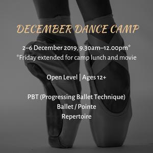 2019 December Dance Camp Info