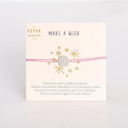 Pulsera Hilo Make a Wish Grande Transparente .925
