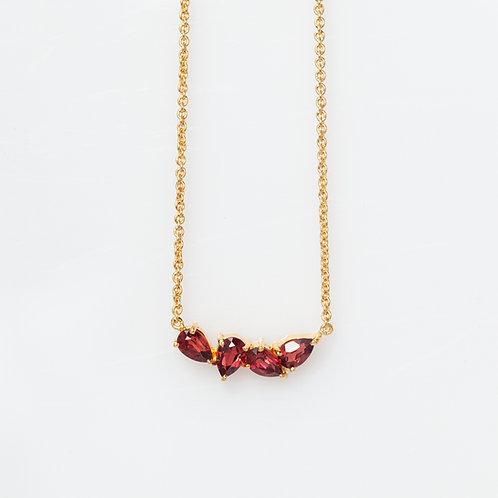 Collar Enredadera Granate .925