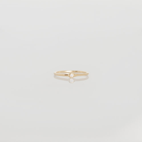 Anillo Mini Diamante 14K en Amarillo