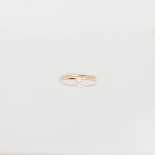 Anillo Mini Diamante 14K en Rosa
