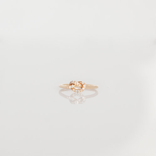 Anillo Loveknot Diamantes 14K