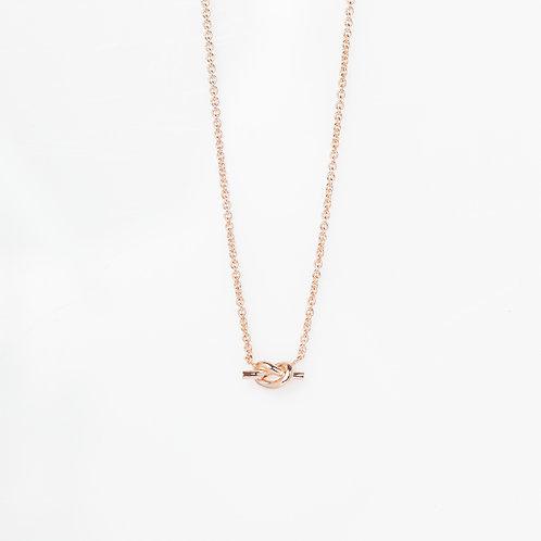Collar Loveknot .925 en Rosa
