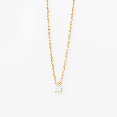 Collar Gota Cuarzo .925