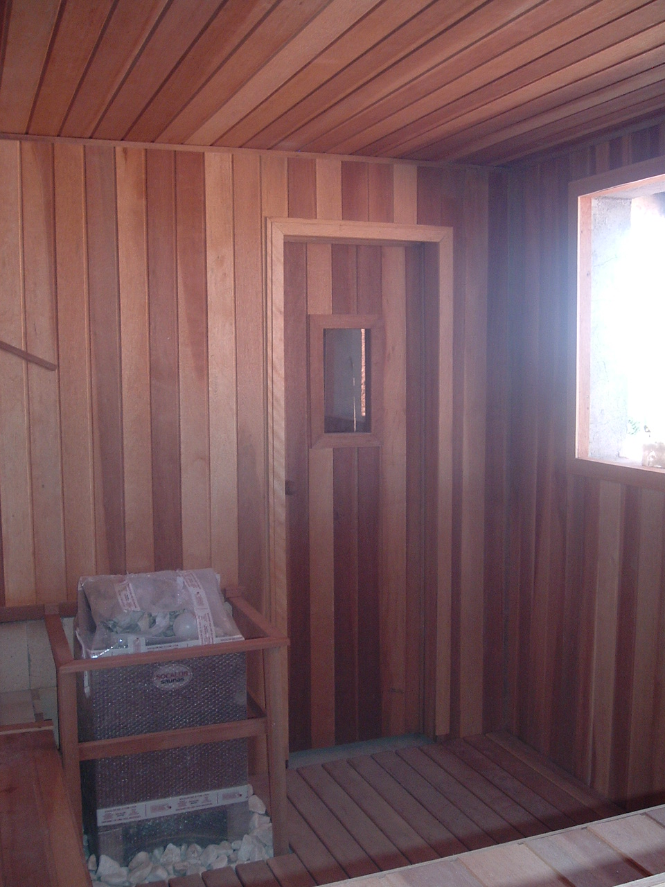 Sauna Seca com vidro