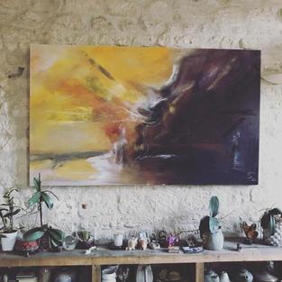Shamans of Tuva huile sur toile -200cmx100cm