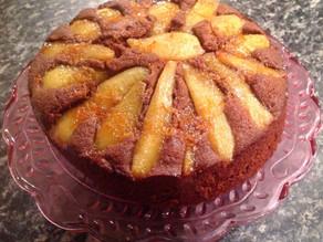 Chocolate, Almond & Pear Cake