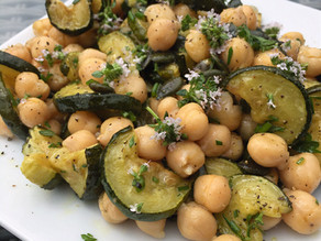 Roasted Courgette, Chickpea & Pumpkin Salad