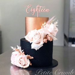 Two tier black and rose gold