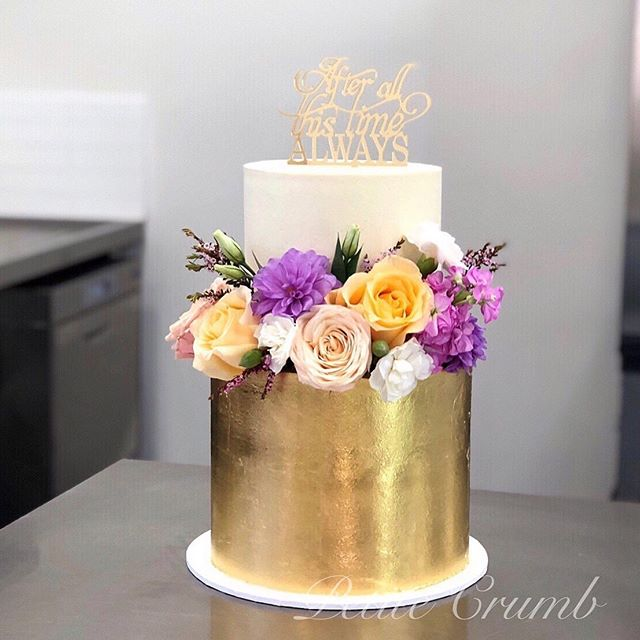 Two tiers of our lemon velvet cake cover